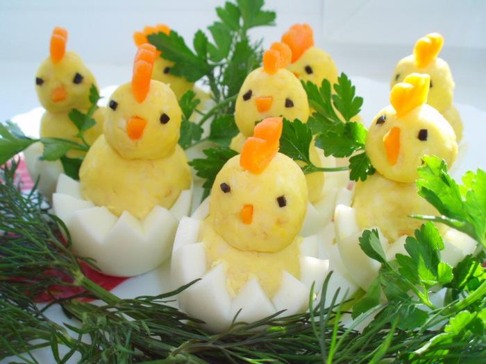 Фото: Закуска - Цыплята на лужайке