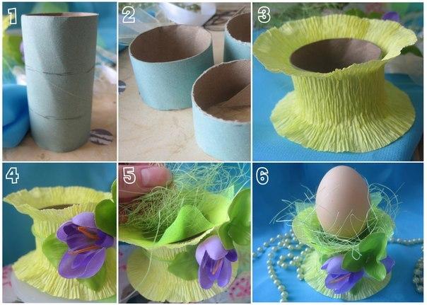 Фото: Подставки под яйца на Пасху
