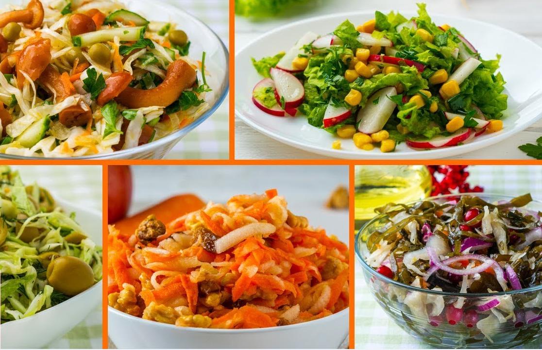 5 вкусных Постных Салатов на Каждый День и на Праздник! Готовятся Ну очень Просто!